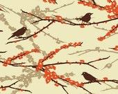 Joel Dewberry - Aviary 2 - Sparrows in Bark - 1/2 yard