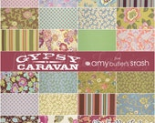 Amy Butler Fabric - GYPSY CARAVAN - 6 inch Quilting Fabric Squares Charm Pack