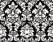 Michael Miller fabric -  Damask Prints - Dandy Damask in Black - 1/2 yard