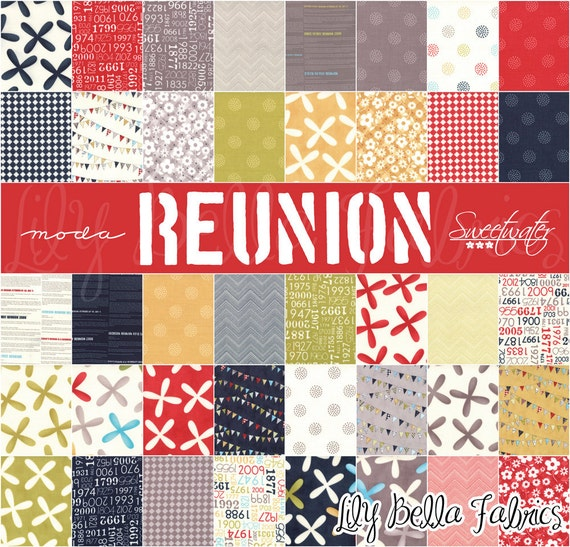 Sweetwater for Moda - REUNION - TWO 5 inch Quilting Fabric Squares Charm Packs