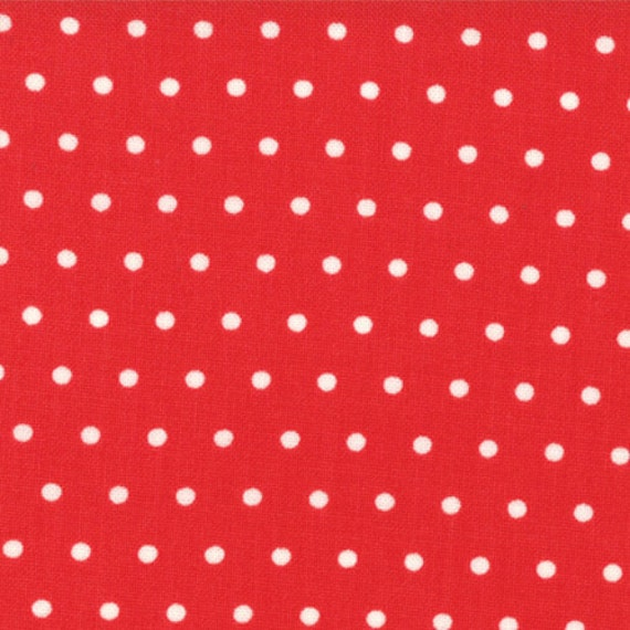 Bonnie & Camille for Moda - VINTAGE MODERN - Dots in Candy Apple - 1/2 yard