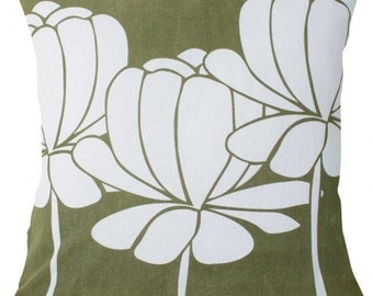 hula olive green cushion covers