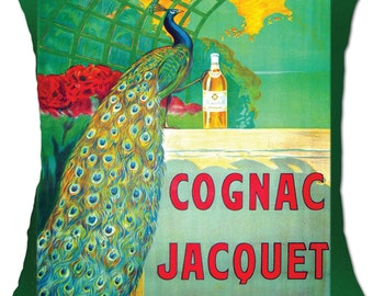 cognac jacquet cushion covers