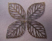 10 pcs Filigree Leaf Pendants Antiqued Copper 64mm -2503