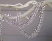 Rock Crystal Quartz faceted rondelle beads 6mm - 2389