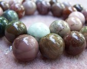 Reserved for Mikelajewelry Imperial Jasper beads 14mm round - 5323