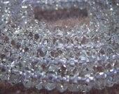 Quartz Crystal rondelle roundel faceted 7mm 10 pcs - 5335