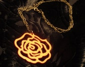 Reserved for Melissa B.-- Reinforced Rose necklace