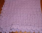 Crocheted Purple Baby Blanket