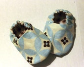Blue Brown Baby Shoes in Sizes 0-12 Months