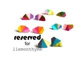 Geometric Leather Earrings Mini Triangle Kaleidoscope Blue and Gold