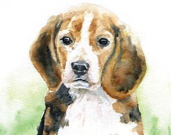 Beagle Watercolor Note Card Set