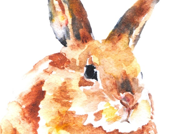 Bunny Rabbit Watercolor Note Card Set