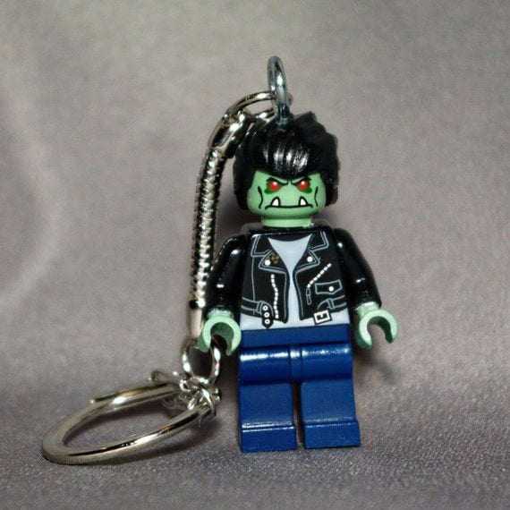 Zombie Greaser LEGO key chain