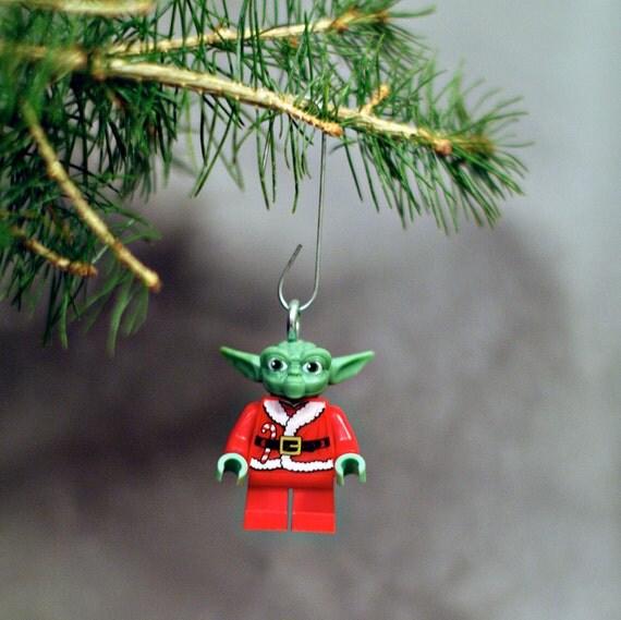 Yoda Claus LEGO ornament