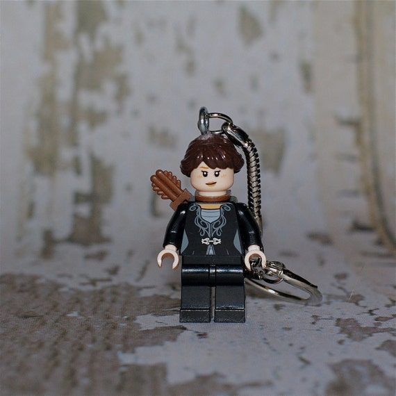 Katniss Everdeen LEGO key chain