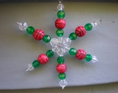 Beaded Basketball Snowflake Ornament