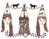 Tipi Party Greeting Card