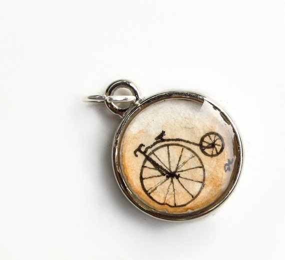 Penny Farthing Bicycle -- Minimalist Contemporary Art Charm