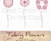 Talking Flowers-Brushes for Photoshop