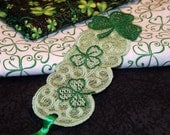 Luck of the Irish Lace Bookmark embroider bookmark