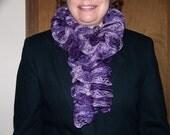 Time to  Boogie Purple Fashion  Scarf Ruffles