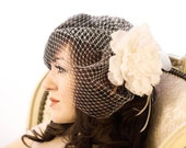 DIY Birdcage Veil Pattern - step-by-step pattern to make your own vintage style blusher veil 2 STYLES