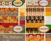 "Autumn Collection Digital Scrapbook Paper  --60-- 12""x12"" Digital Papers"