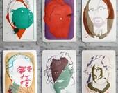 Portrait Series of Limited Edition Letterpress Prints (Complete Series of 6 Prints)