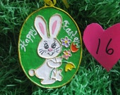 Paper Mache Easter Rabbit Ornament