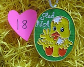 Paper Mache Easter Chicken Ornament