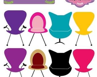 Beautiful Chair Clip art elements, scrap booking, paper craft, invites