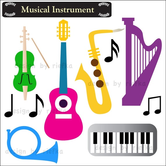 Items similar to Musical Instrument Clip Art on Etsy