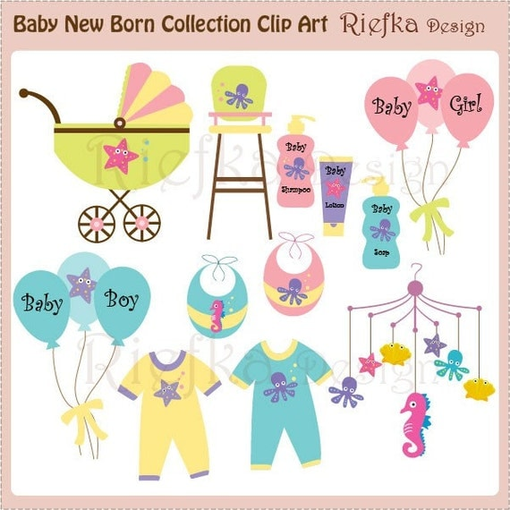 Baby New Born Collection Clip Art