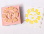Sunny Funny Hand Carved Stamp for Acrylic Blocks