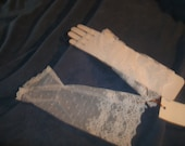 1950s  ivory  lace wedding mitts reserved for cheryl