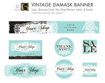 SHOP BANNER and AVATAR -- custom color -- digital files