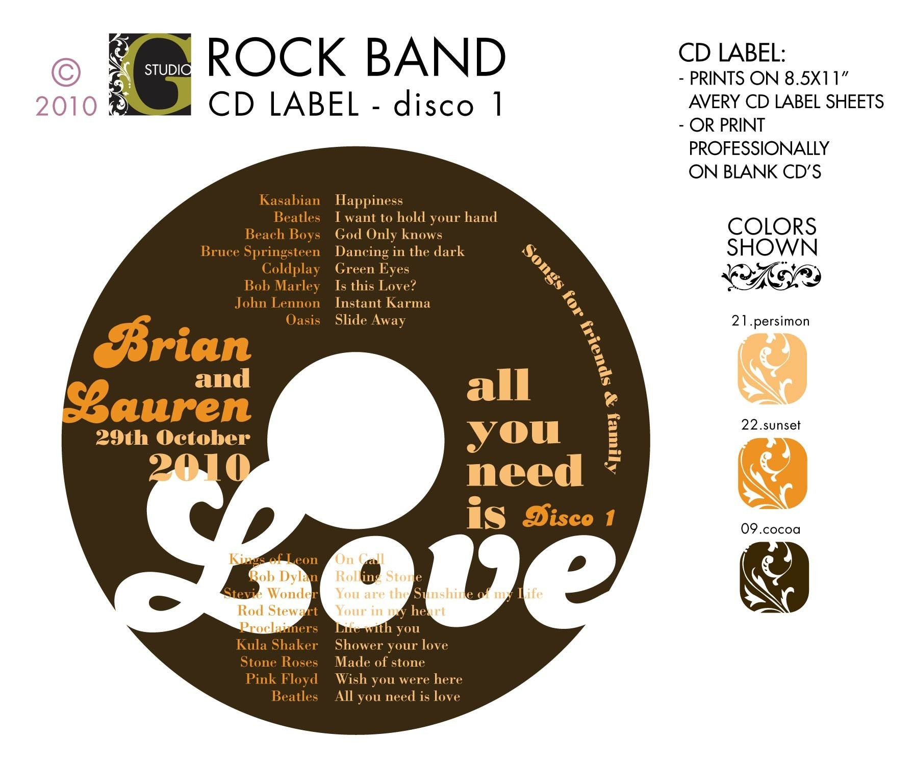 It is a graphic of Influential Personalised Cd Labels Wedding