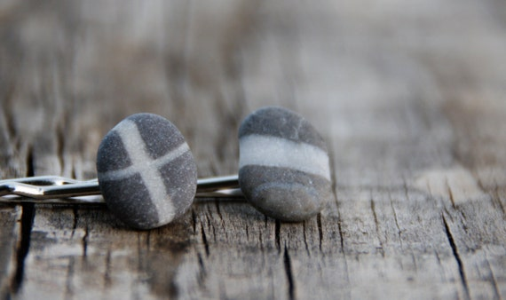 Reserved for Steffen - Pebble ear studs xo