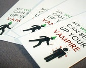 """Harry Potter Inspired """"My wizard can beat up your vampire"""" Mini Glossy Bookmarks (Set of 8)"""