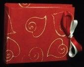 Handmade photo album red hearts batik paper boyfriend birthday gift  scarapbook Valentine's day