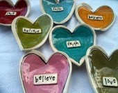 Funky Heart Dishes - Message in a heart