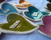 Funky Heart Dishes set of 3