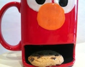 Cookies Dunk and Milk Mug  Monster and Friendly Characters