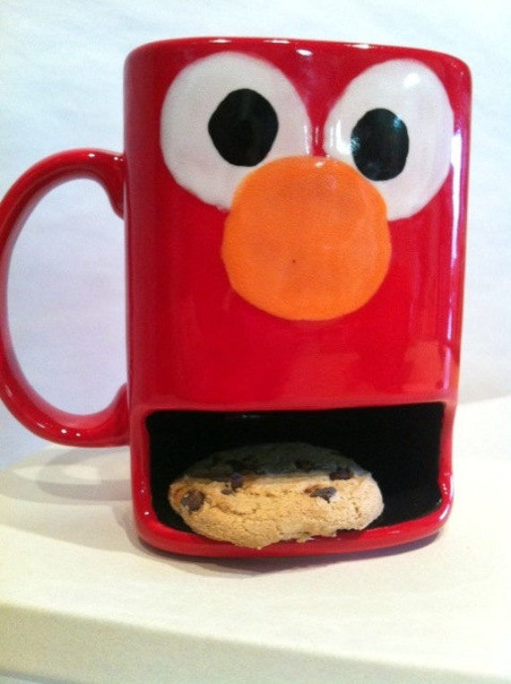 Kids Cookies Dunk and Milk Mug  Monster and Friendly Characters