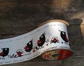 Vintage Bird Ribbon Extra Wide