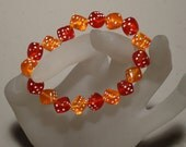 Orange/Red Dice Bracelet