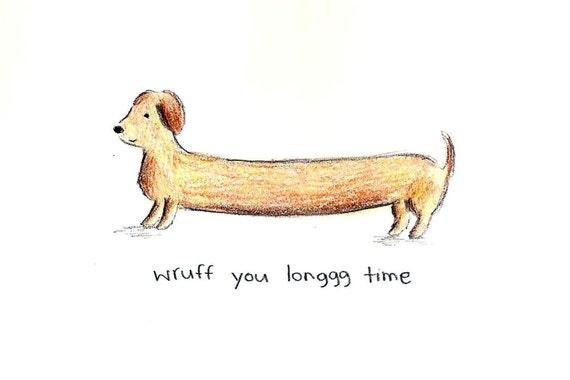 wruff you long time - card