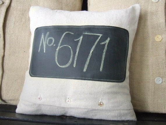 Canvas And Chalkboard Pillow