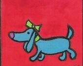 Princess Gabby the Weiner Dog Whimsical Blank Art Card